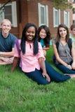 Разнообразная группа в составе друзья Стоковая Фотография