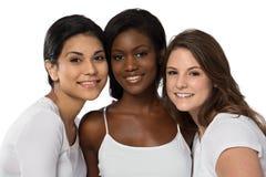 Разнообразная группа в составе красивые женщины Стоковые Фотографии RF