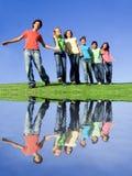 разнообразная группа счастливая Стоковые Изображения RF
