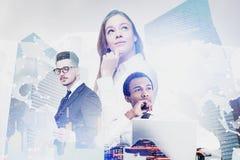 Разнообразная команда дела, международная компания стоковое изображение