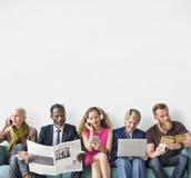 Разнообразная концепция деятельности при единения общины группы людей Стоковые Изображения