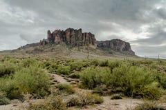 Разнообразная красота ландшафта пустыни Аризоны Стоковые Изображения RF