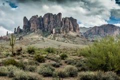 Разнообразная красота ландшафта пустыни Аризоны Стоковое Изображение RF