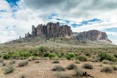 Разнообразная красота ландшафта пустыни Аризоны Стоковое фото RF