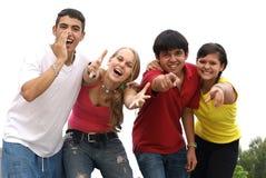 разнообразная молодость подростка подростков Стоковое Фото