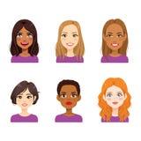 Разнообразное воплощение стороны женщины Стоковое Фото