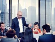 Разнообразные бизнесмены в встрече Стоковое Изображение RF