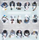 Разнообразные бизнесмены имея встречу в офисе Стоковое Фото