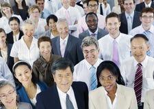 Разнообразные бизнесмены успешной корпоративной концепции стоковое изображение rf