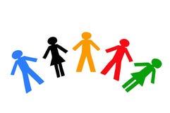 разнообразные люди Стоковое фото RF
