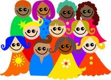 разнообразные малыши Стоковое Фото