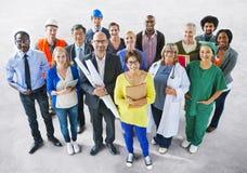 Разнообразные многонациональные люди с различными работами Стоковое фото RF