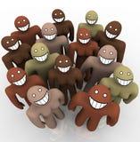 разнообразные стороны собирают усмехаться людей иллюстрация штока