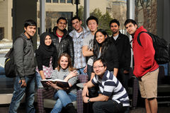 разнообразные студенты группы Стоковое Изображение RF