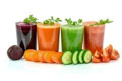 Разнообразные типы vegetable соков стоковая фотография