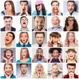 Разнообразные люди с различными эмоциями стоковое изображение
