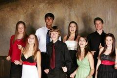 разнообразный подросток петь Стоковое Изображение