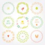 Разносторонние венки Орнамент весны для украшать Стоковая Фотография