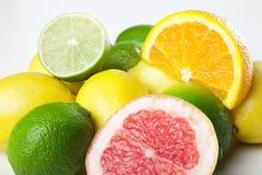 Разносторонний close-up плодоовощей Стоковые Фото