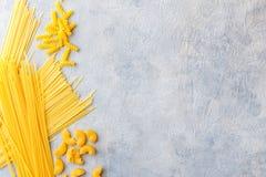 Разные виды макаронных изделия Стоковое Изображение