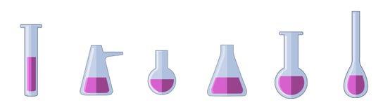 Разные виды пробирок иллюстрация вектора