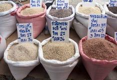 Разные виды риса в Таиланде стоковые фото