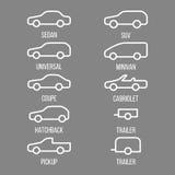 Разные виды тела автомобиля Стоковые Фото