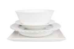 Белые плиты Стоковые Изображения