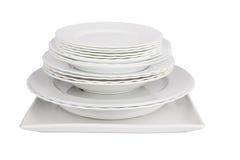 Белые плиты Стоковые Фото