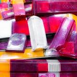 Разные виды винтажных задних светов автомобиля Стоковые Фото