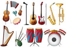 Разные виды музыкальных инструментов бесплатная иллюстрация