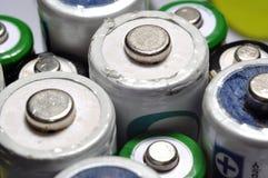 Разные виды предпосылки текстуры макроса старых используемых батарей r Стоковая Фотография RF