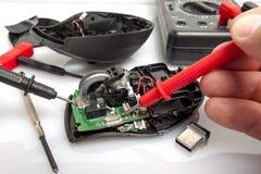 Разобрал мышь компьютера стоковые изображения rf