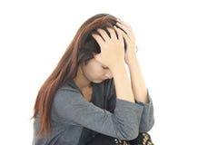 Разочарованная азиатская женщина Стоковая Фотография RF