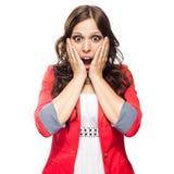 Разочарованная женщина дела screaming Стоковые Изображения RF