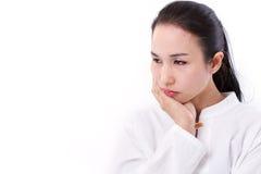Разочарованная, пробуренная женщина Стоковая Фотография