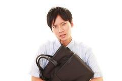 Разочарованный азиатский бизнесмен Стоковые Фото