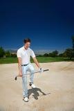 Разочарованный гольф стоковая фотография