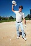 Разочарованный игрок в гольф стоковое изображение rf