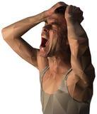 Разочарованный дизайн клекота человека с полигонами Стоковое Изображение