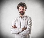 Разочарованный молодой человек стоковое фото rf