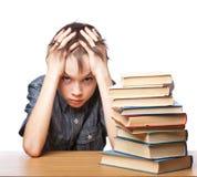 Разочарованный ребенок с затруднениями в учебе Стоковые Изображения RF