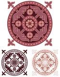 Разработанный медальон в классическом европейском стиле Стоковое Изображение RF