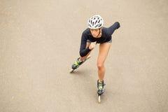 Разработка конькобежца ролика Стоковое фото RF