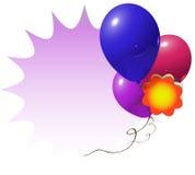разрекламируйте знак baloon Стоковое Изображение