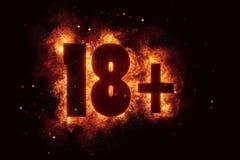 18 разрешение взрослого знака 18 только бдительное позволенное Стоковые Изображения