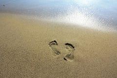 разрешение следов ноги ничего стоковая фотография rf