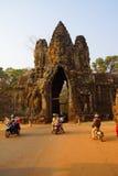 Разрешение Angkor Thom tuks мотоцилк и Tuk Стоковое фото RF