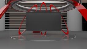 Разрешение 8K, 3D виртуальной студии установленное представляет Стоковое Фото