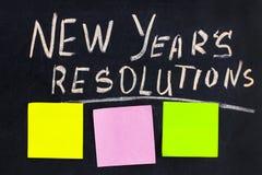 Разрешение ` s Нового Года слова написанное на классн классном с bl Стоковое Фото